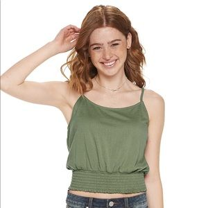 Mudd Smocked Bottom tank top